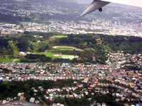 Flying into Wellington